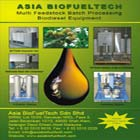 Multi feedstock batch processing biodiesel equipment