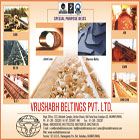 Vrushabh is one of the leading manufacturer and distributor of Conveyor Belts, Transmission Belts, Elevator Belts, PVC Belts.